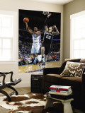 San Antonio Spurs v New Orleans Hornets: Marcus Thornton and Tiago Splitter Wall Mural by Layne Murdoch