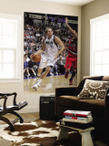 Portland Trail Blazers v Dallas Mavericks: Dirk Nowitzki and Brandon Roy Wall Mural by Glenn James