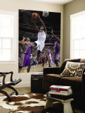 Phoenix Suns v Dallas Mavericks: Brendan Haywood, Hakim Warrick and Goran Dragic Wall Mural by Glenn James