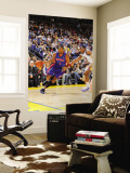 Detroit Pistons v Golden State Warriors: Jeff Adrien and Tracy McGrady Wall Mural by Rocky Widner