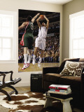 Milwaukee Bucks v Dallas Mavericks: Dirk Nowitzki and Ersan Ilyasova Wall Mural by Danny Bollinger
