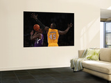 Sacramento Kings v Los Angeles Lakers: Donte Greene and Derrick Caracter Wall Mural by Jeff Gross