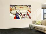 Los Angeles Lakers v Houston Rockets: Shannon Brown and Brad Miller Wall Mural by Bill Baptist