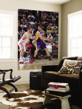 Los Angeles Lakers v Houston Rockets: Pau Gasol and Brad Miller Wall Mural by Bill Baptist