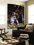 Denver Nuggets v Boston Celtics: Paul Pierce and Arron Afflalo Wall Mural by Elsa Unknown