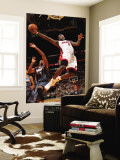 Charlotte Bobcats v Miami Heat: LeBron James Premium Wall Mural by Victor Baldizon