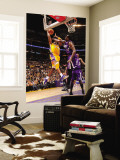 Sacramento Kings v Los Angeles Lakers: Kobe Bryant and Samuel Dalembert Wall Mural by Andrew Bernstein