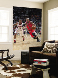 Chicago Bulls v Atlanta Hawks - Game Three, Atlanta, GA - MAY 6: Keith Bogans and Jeff Teague Wall Mural by Scott Cunningham