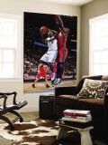 New Jersey Nets v Denver Nuggets: Ty Lawson and Johan Petro Wall Mural by Garrett Ellwood