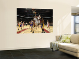 Los Angeles Lakers v Toronto Raptors: Joey Dorsey, Luke Walton and Linas Kleiza Wall Mural by Ron Turenne