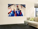 Chicago Bulls v Atlanta Hawks - Game Six, Atlanta, GA - MAY 12: Derrick Rose, Joakim Noah, Carlos B Wall Mural by Kevin Cox