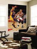 Los Angeles Lakers v Chicago Bulls: Derrick Rose and Derek Fisher Wall Mural by Andrew Bernstein