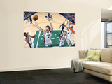 Memphis Grizzlies v Utah Jazz: Kyrylo Fesenko Wall Mural by Melissa Majchrzak