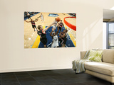 Portland Trail Blazers v Memphis Grizzlies: Zach Randolph, Sean Marks and Wesley Matthews Wall Mural by Joe Murphy