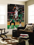 Toronto Raptors v Boston Celtics: Sonn Weems and Kevin Garnett Wall Mural by Brian Babineau