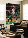 Toronto Raptors v Boston Celtics: Sonn Weems and Kevin Garnett Wall Mural by Brian Babineau