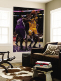 Sacramento Kings v Los Angeles Lakers: Kobe Bryant and Samuel Dalembert Wall Mural by Jeff Gross