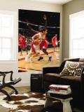 Philadelphia 76ers v Toronto Raptors: Jose Calderon and Jrue Holiday Wall Mural by Ron Turenne