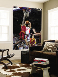Cleveland Cavaliers v Detroit Pistons: Tayshaun Prince, J.J. Hickson and Anthony Parker Wall Mural by Allen Einstein