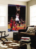 Toronto Raptors v Detroit Pistons: Rodney Stuckey and Joey Dorsey Wall Mural by Allen Einstein