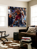 Cleveland Cavaliers  v New Orleans Hornets: Antawn Jamison and Peja Stojakovic Wall Mural by Layne Murdoch