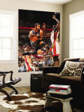 Charlotte Bobcats v Miami Heat: D.J. Augustin and Joel Anthony Wall Mural by Victor Baldizon