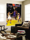 New York Knicks v Golden State Warriors: Ronny Turiaf and Andris Biedrins Wall Mural by Rocky Widner