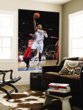 New Jersey Nets v Denver Nuggets: Carmelo Anthony and Johan Petro Wall Mural by Garrett Ellwood