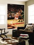 Boston Celtics v Toronto Raptors: Jose Calderon and Glen Davis Wall Mural by Ron Turenne