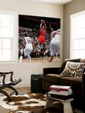 Chicago Bulls v Atlanta Hawks - Game Three, Atlanta, GA - MAY 6: Derrick Rose and Al Horford Wall Mural by Scott Cunningham