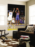 New York Knicks v Golden State Warriors: Toney Douglas and Monta Ellis Wall Mural by Rocky Widner