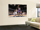 Los Angeles Lakers v New Jersey Nets: Steve Blake and Kris Humphries Wall Mural by Andrew Bernstein