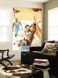 Denver Nuggets v Phoenix Suns: Hedo Turkoglu and Al Harrington Wall Mural by Barry Gossage