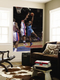 New Orleans Hornets v Detroit Pistons: David West and Charlie Villanueva Wall Mural by Allen Einstein