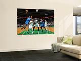 Oklahoma City Thunder v Boston Celtics: Russell Westbrook and Rajon Rondo Wall Mural by Brian Babineau