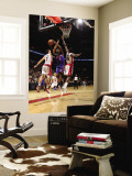 New York Knicks v Toronto Raptors: Amar'e Stoudemire, Amir Johnson and Andrea Bargnani Wall Mural by Ron Turenne