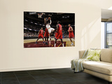Philadelphia 76ers v Cleveland Cavaliers: J.J. Hickson, Evan Turner, Elton Brand and Jrue Holiday Wall Mural by David Liam Kyle