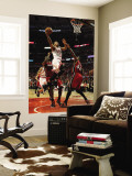 Miami Heat v Chicago Bulls - Game Two, Chicago, IL - MAY 18: Derrick Rose and Udonis Haslem Wall Mural by Jonathan Daniel