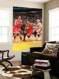 Chicago Bulls v Miami Heat - Game ThreeMiami, FL - MAY 22: Derrick Rose and Mike Bibby Wall Mural by Victor Baldizon