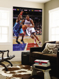 New Orleans Hornets v Philadelphia 76ers: Thaddeus Young and Jarrett Jack Wall Mural by David Dow