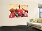 Los Angeles Clippers v Chicago Bulls: Derrick Rose and Eric Bledsoe Wall Mural by Randy Belice