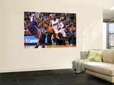 Atlanta Hawks v Miami Heat: Dwyane Wade and Marvin Williams Wall Mural by NBA Photos