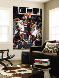 Miami Heat v Washington Wizards: Dwyane Wade, Hilton Armstrong and Nick Young Wall Mural by Greg Fiume