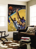 Dallas Mavericks v New Orleans Hornets: Willie Green, Brendan Haywood and Dirk Nowitzki Wall Mural by Chris Graythen