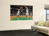 Denver Nuggets v Boston Celtics: Ty Lawson and Glen Davis Wall Mural by Brian Babineau