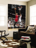 Chicago Bulls v Atlanta Hawks - Game Three, Atlanta, GA - MAY 6: Derrick Rose and Josh Smith Wall Mural by Scott Cunningham
