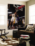 Golden State Warriors v Los Angeles Lakers: Jeff Adrien, Sasha Vujucic and Derrick Caracter Wall Mural by Stephen Dunn