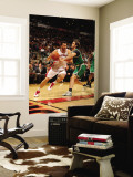Boston Celtics v Toronto Raptors: Andrea Bargnani and Semih Erden Wall Mural by Ron Turenne