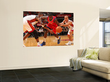 Philadelphia 76ers v Miami Heat: Jrue Holiday, Chris Bosh and Carlos Arroyo Wall Mural by Victor Baldizon
