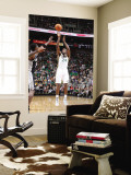 San Antonio Spurs v Utah Jazz: Paul Millsap and Antonio McDyess Wall Mural by Melissa Majchrzak